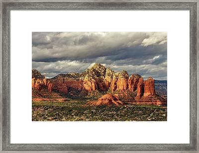 Sedona Skyline Framed Print by James Eddy