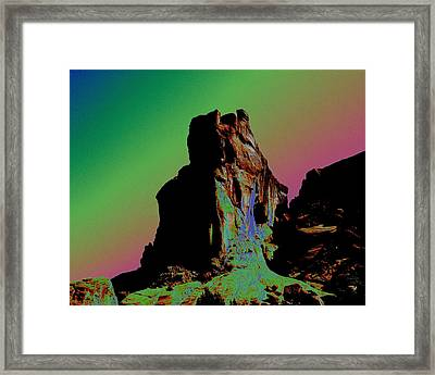 Sedona Solarized Framed Print by Barry Shaffer