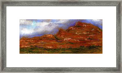 Sedona Storm Clouds Framed Print by Marilyn Barton