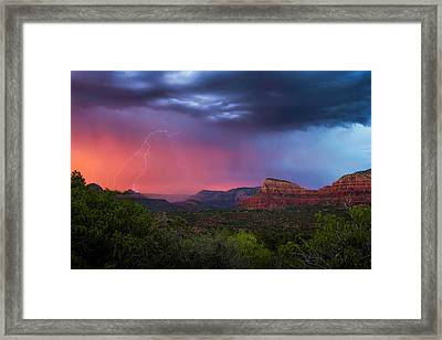 Sedona Storm  Framed Print by Ron McGinnis