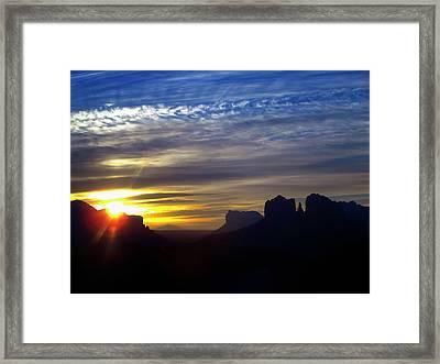 Sedona Sunrise Framed Print