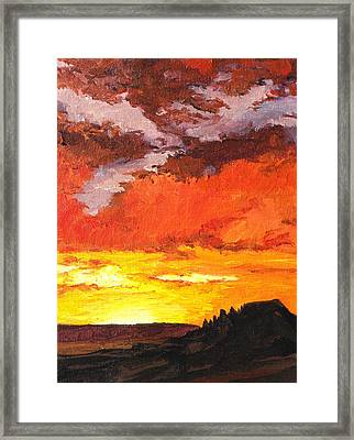Sedona Sunset 2 Framed Print by Sandy Tracey