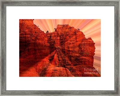 Sedona Sunset Energy - Abstract Art Framed Print