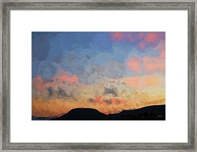Sedona Sunset - Painterly Framed Print