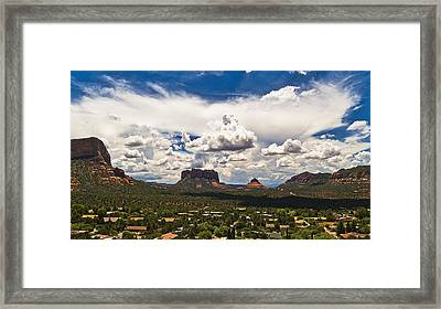 Sedona Valley And Bell Rock Framed Print by Lou  Novick