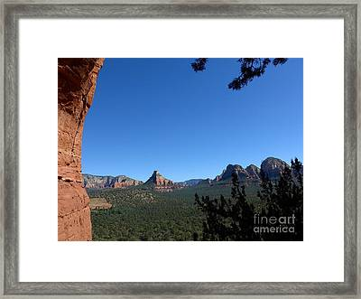 Sedona View From Cave Framed Print