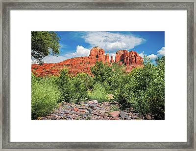 Sedona's Red Rock Crossing  Framed Print by Gregory Ballos