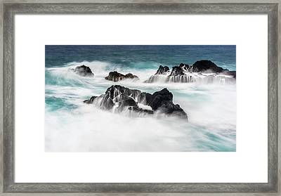 Framed Print featuring the photograph Seduced By Waves by Jon Glaser
