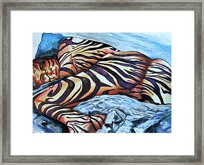 Seduction Of Stripes Framed Print