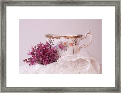 Sedum Flower Still Life Framed Print by Sandra Foster