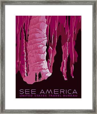 See America - Carlsbad Caverns - Pink Framed Print by Finlay McNevin
