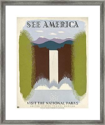 See America Poster, C1937 Framed Print by Granger
