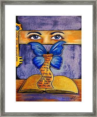 See And Decree Framed Print