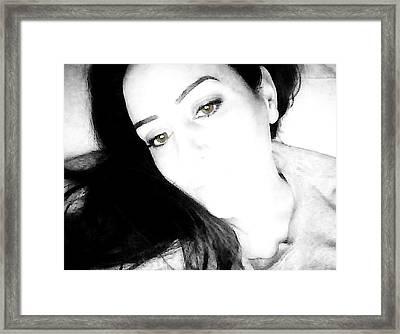 See My Soul-brown Framed Print by Amanda Schambon