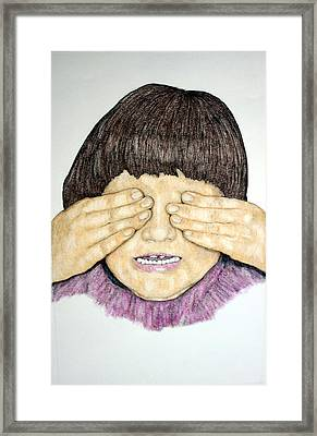 See No Evil Framed Print