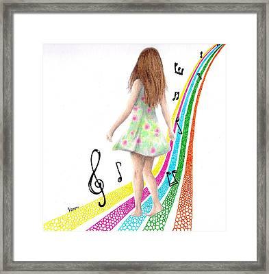 See The Music Framed Print by Karen Orlanski