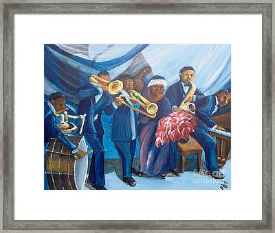 Framed Print featuring the painting See The Music by Saundra Johnson