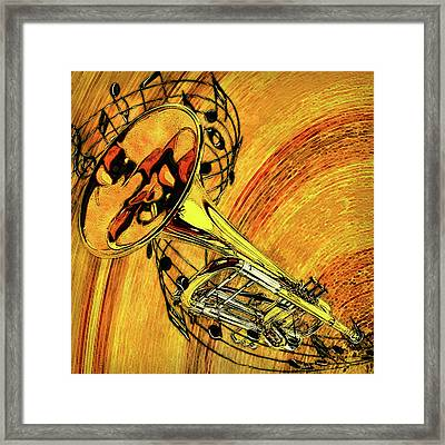 See The Sound Series Trumpet Framed Print by Jack Zulli