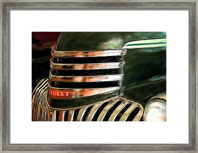 See The Usa In A Chevrolet Framed Print by Lois Bryan