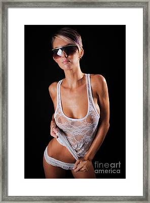 See Through Wet Tank Top Framed Print by Jt PhotoDesign