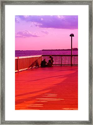 See What I Caught Framed Print by Florene Welebny