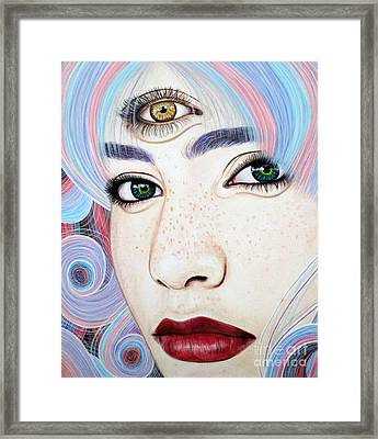 See With Your Soul Framed Print