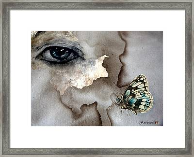 See You In Another Life Ol' Blue Eyes Framed Print by Anna Belanger