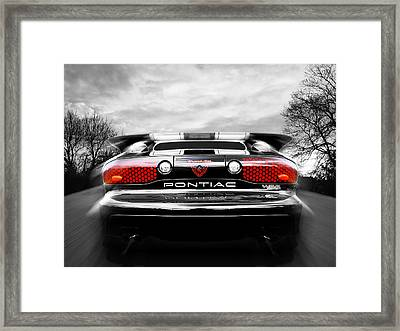See You Later - Pontiac Trans Am Framed Print by Gill Billington