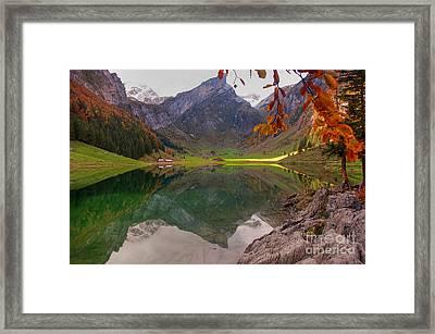 Seealpsee  Framed Print by Caroline Pirskanen