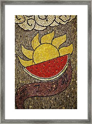 Seed Art Framed Print by John  Bartosik