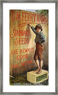 Seed Company Poster, C1890 Framed Print by Granger