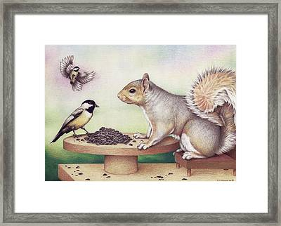 Seed For Two Framed Print by Amy S Turner