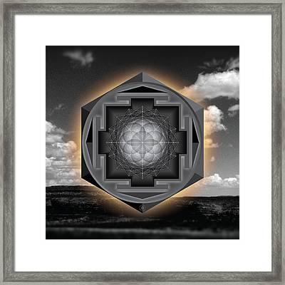Seed Of Life Desert Mandala Framed Print