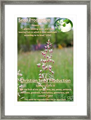 Seed Production Framed Print