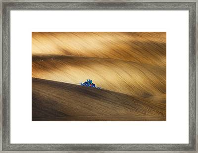 Seeding Framed Print