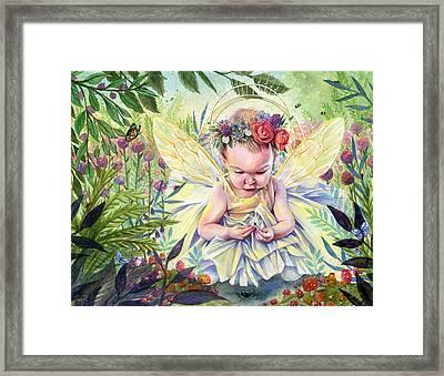 Seedling Framed Print by Sara Burrier