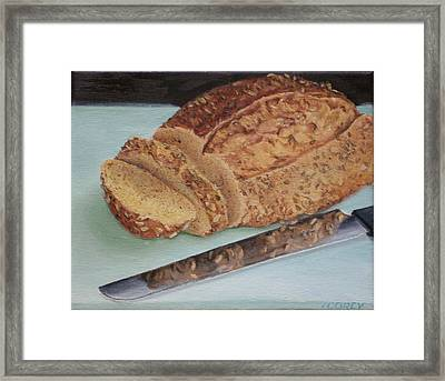 Seeds Of Contentment Framed Print by Irene Corey