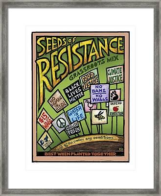 Seeds Of Resistance Framed Print by Ricardo Levins Morales