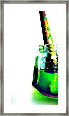 Seeing Green Framed Print by Sarah Jean Sylvester