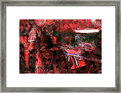 Seeing Red Framed Print by Geraldine Scull