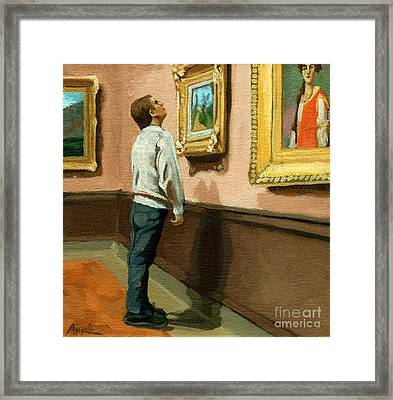 Seeing The Details Framed Print by Linda Apple