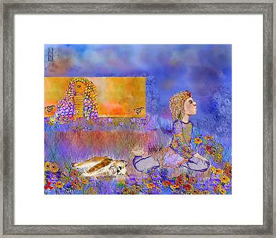 Seeing Zebras  Framed Print by Cynthia Richards