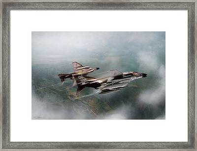 Seek And Attack Framed Print by Peter Chilelli