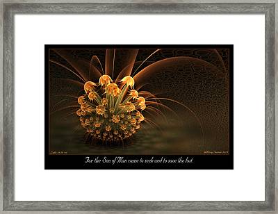 Seek And Save Framed Print
