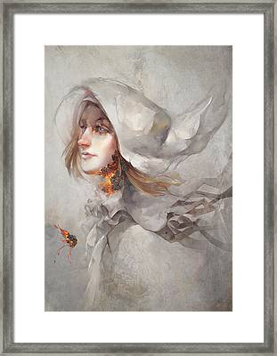 Framed Print featuring the digital art Seek V1 by Te Hu