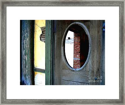 Seeking Perspective Framed Print by Lin Haring