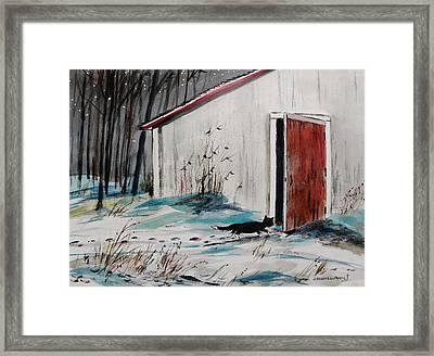 Seeking Shelter Framed Print by John  Williams