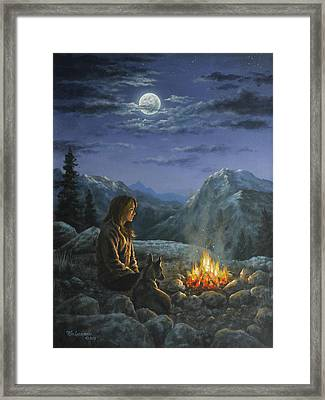 Framed Print featuring the painting Seeking Solace by Kim Lockman
