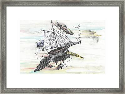 Seeking Value Through Sea And Sky Framed Print