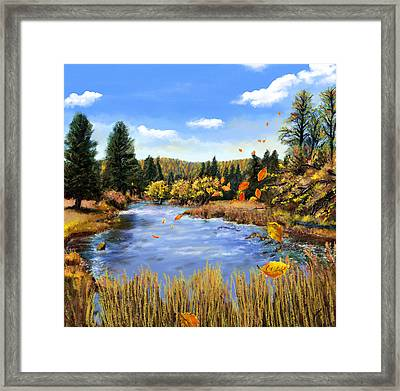 Seeley Montana Fall Framed Print